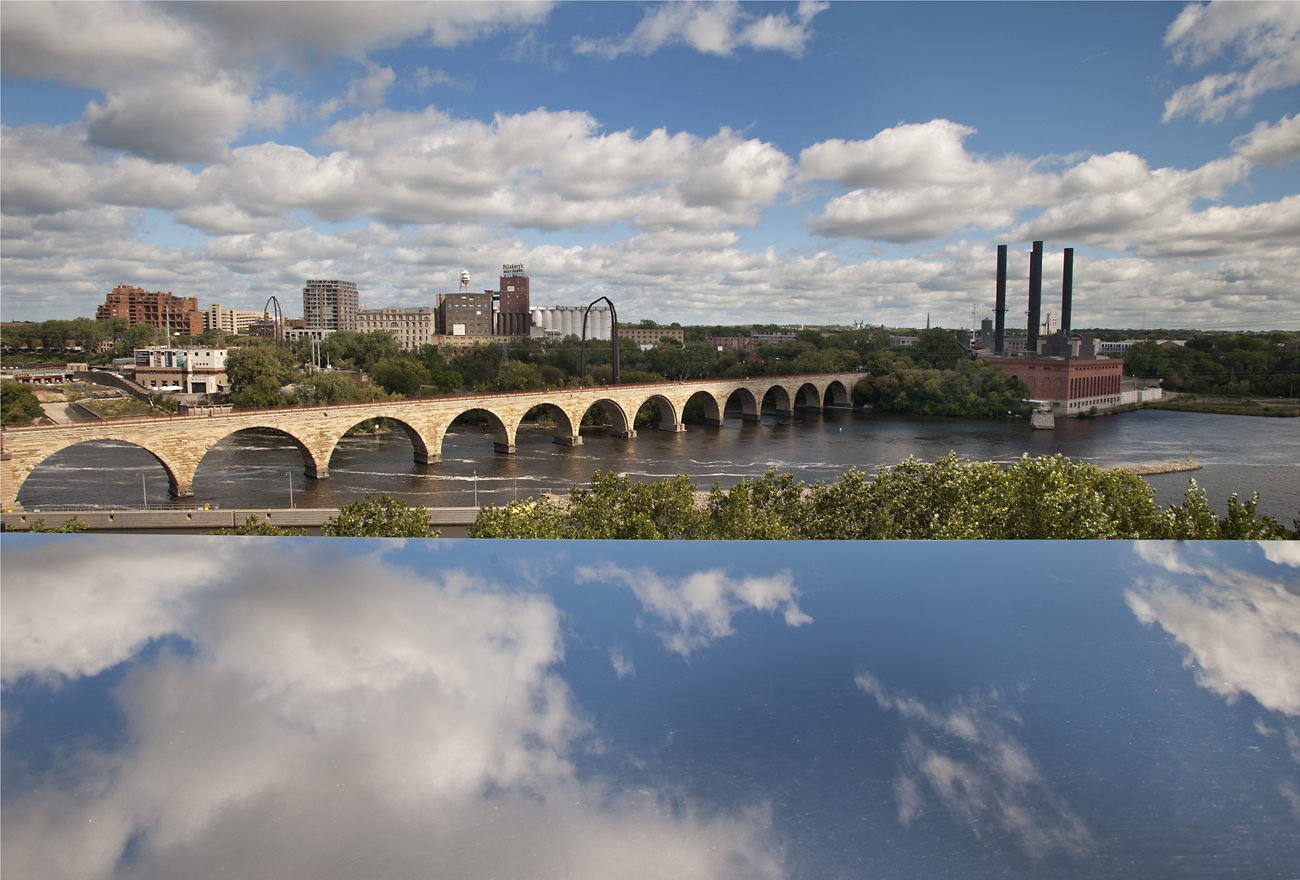 Stone Arch Bridge across the Mississippi River at Minneapolis