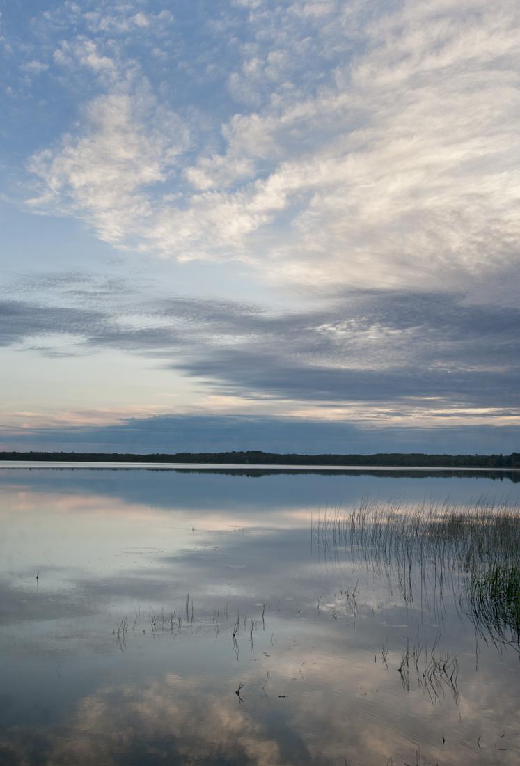 Lake Waukanabo, Minnesota, just after sunrise